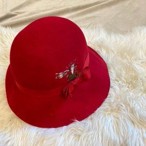 100% Wool Cloche - Large Brim - Great Condition